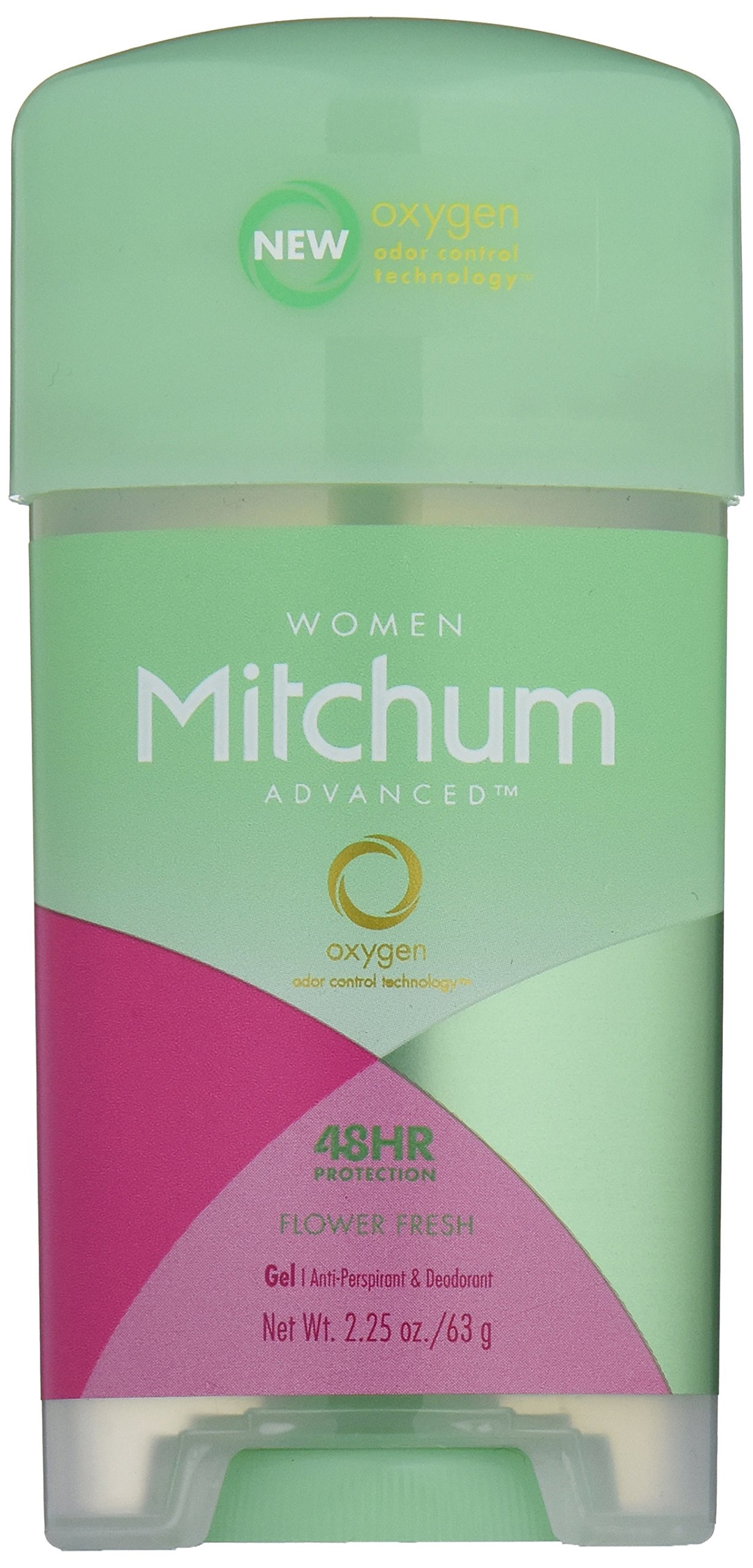 Mitchum Anti-Perspirant & Deodorant for Women, Power Gel, Flower Fresh, 2.25 oz (63 g) (Pack of 6)