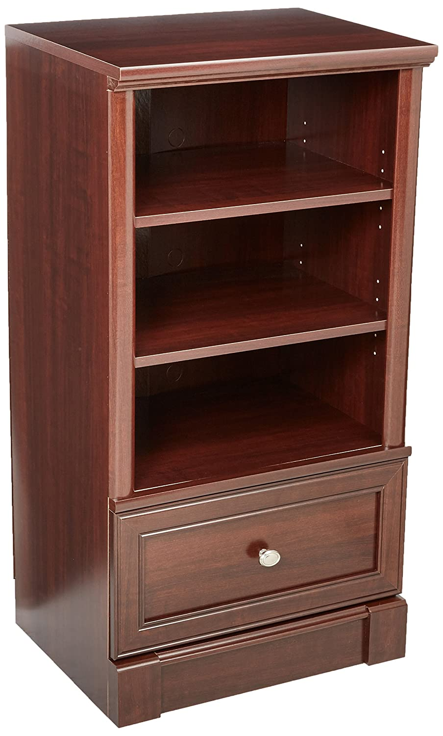 Sauder Palladia Technology Pier Free Standing Cabinet, Select Cherry Finish 411861