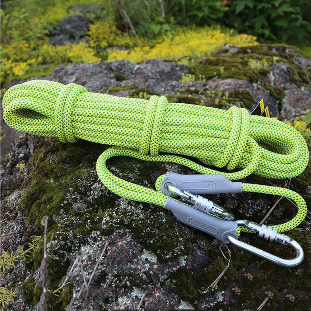 Rock climbing climbing climbing ropes Outdoor Klettern Seile Feuerleiter Sicherheit Lifesaving Seil Bergab Seil Verschleiß Luft,Gelb-10m10.5mm B07DRJN3F2 Reepschnüre Aktuelle Form e6157a