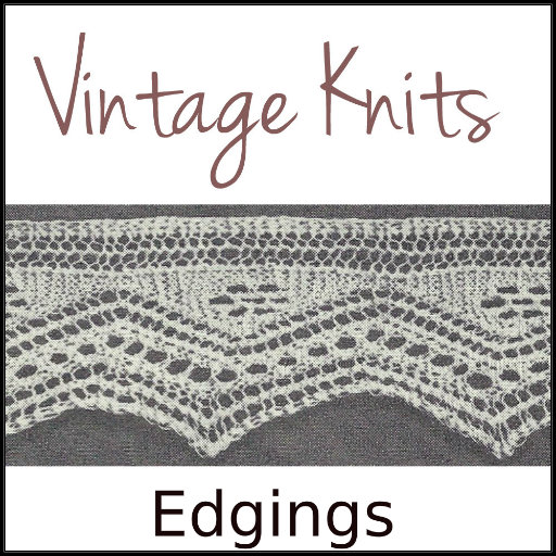 Vintage Knits: Edgings - Knit Edging Patterns