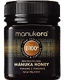 Manukora MGO 100+ Multifloral Raw Mānuka Honey (250g/8.8oz) - Authentic Non-GMO New Zealand Honey, UMF & MGO Certified…