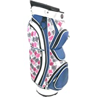Vouge New Ladies Golf Tour Women's Cart Trolley Bag Navy Silver 15 Way Divider