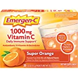 Emergen-C 1000mg Vitamin C Powder, with Antioxidants, B Vitamins and Electrolytes, Vitamin C Supplements for Immune Support,