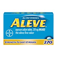 Aleve Tablets, Fast Acting All Day Pain Relief for Headaches, Muscle Aches, and Fever Reduction, Naproxen Sodium Capsules, 220 mg, 270 Count