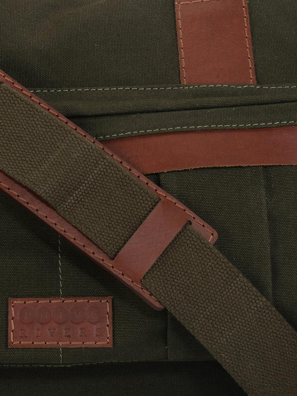 Green Phive Rivers Leather Duffle Bag//Weekender Bag