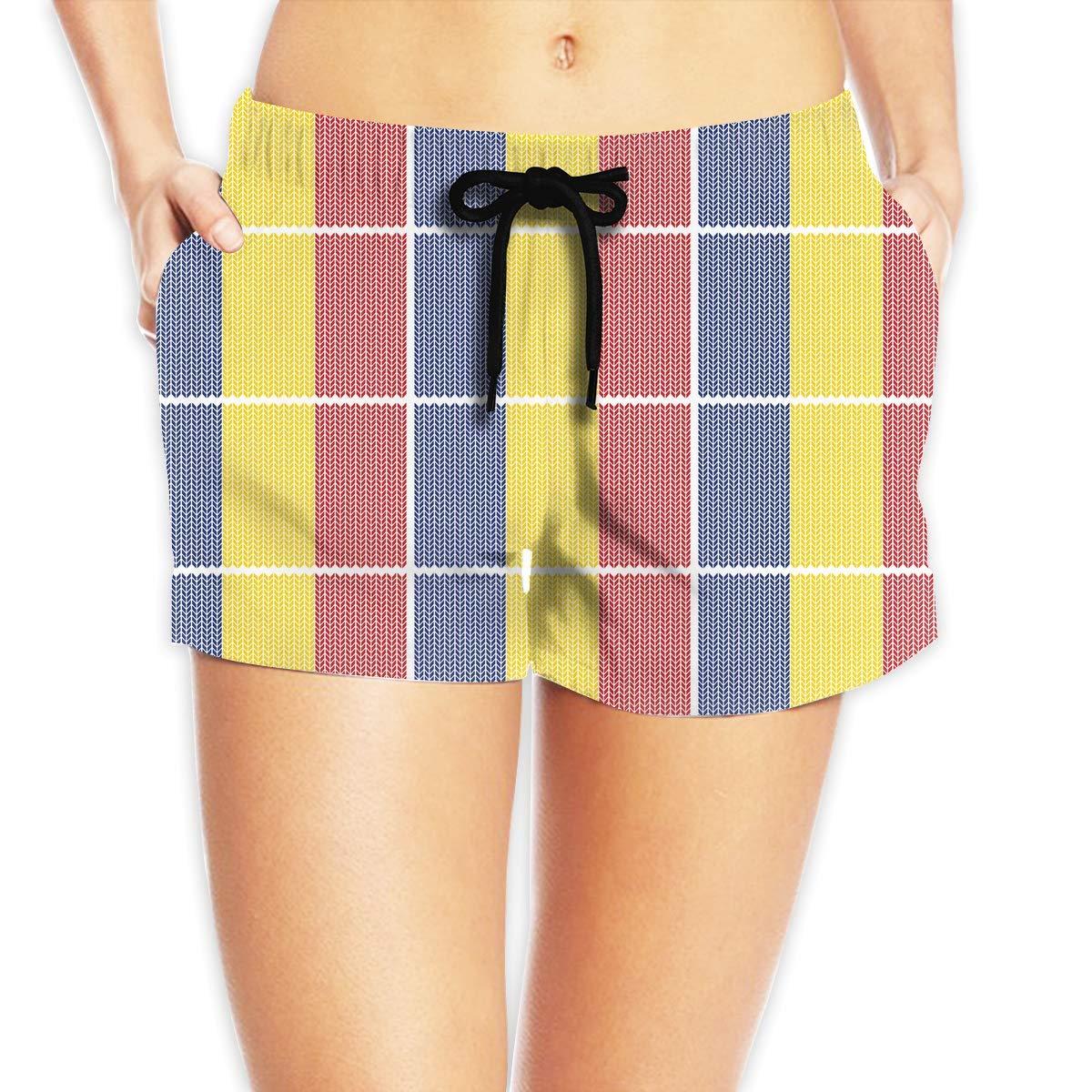 Hlcenng Distress Painted American Flag Pattern Womens Board//Beach Shorts Surf Yoga Beachwear
