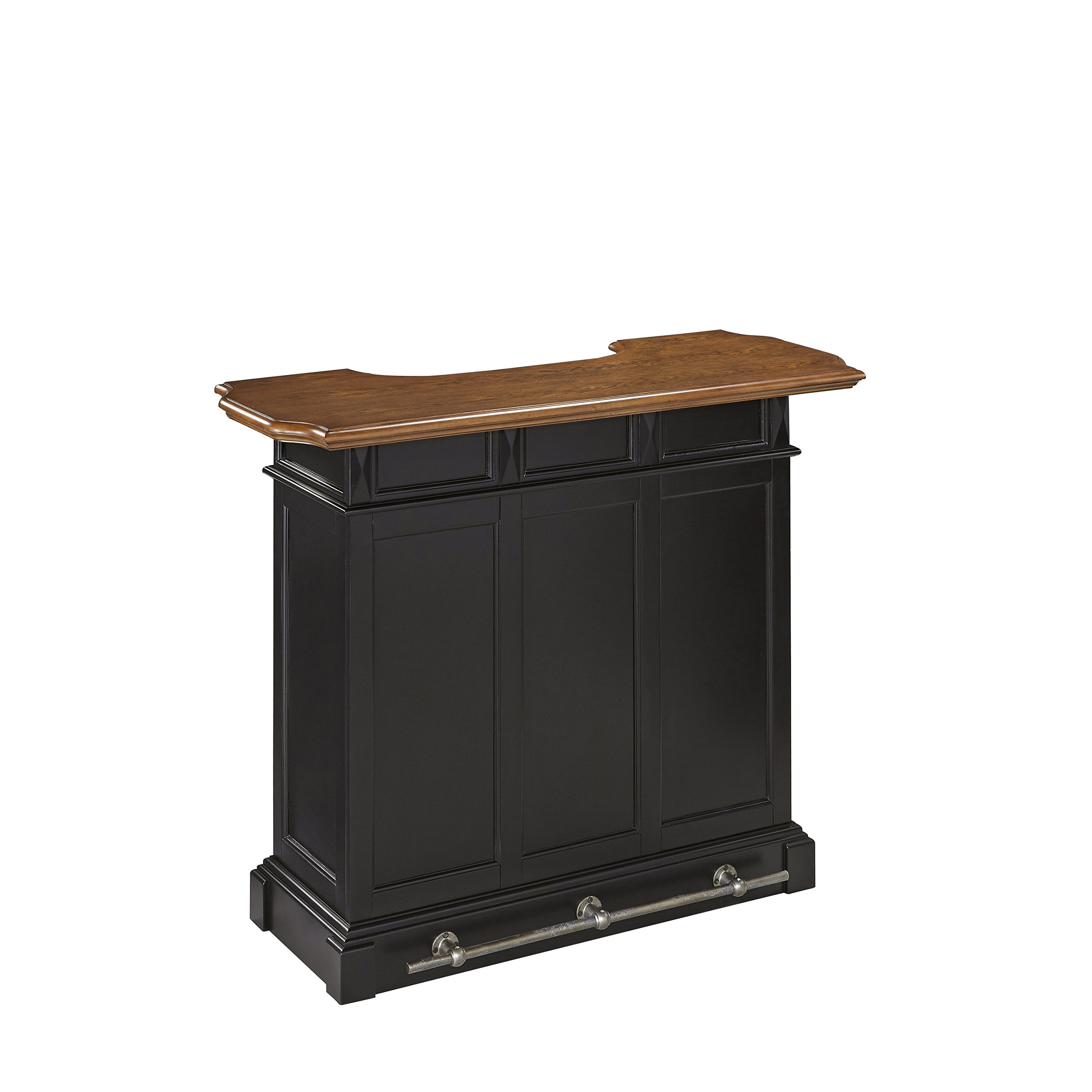 Americana Black and Oak Bar by Home Styles by Home Styles