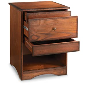 Nightstand With Locking Secret Hidden Drawer