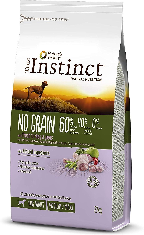 True Instinct No Grain - Pienso sin Cereales para Perro Adult Medium-Maxi con Pavo - 2kg