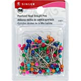 Singer Pearlized Head Straight Pins, 150-Count