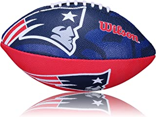 WILSON Football NFL Patriots Logo, Royal/Blanc, Junior, wl0206193140