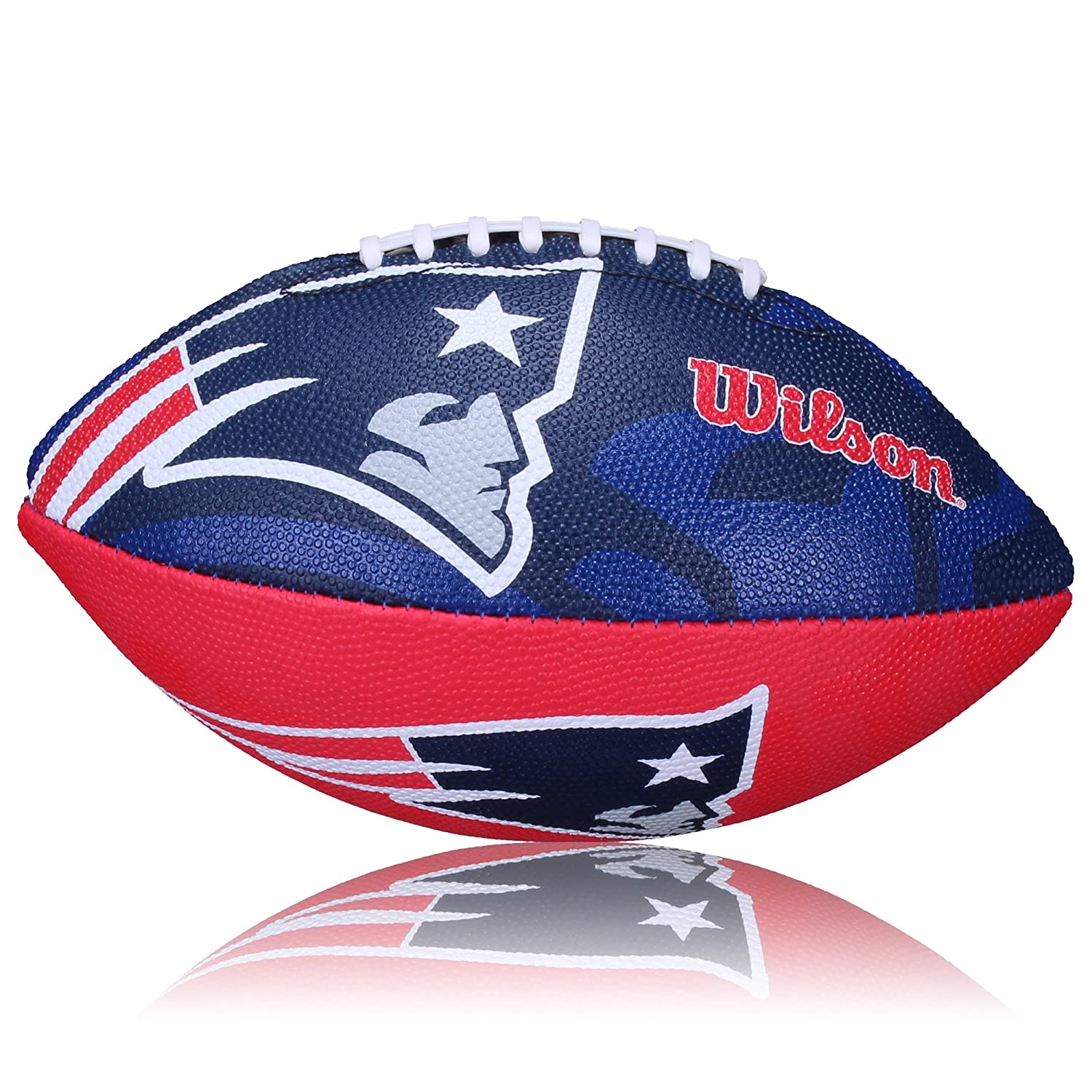 Wilson Football NFL Patriots Logo, Royal/blanco, junior, wl0206193140