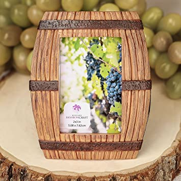 120 wine barrel themed place card frames picture frames - Wine Picture Frames