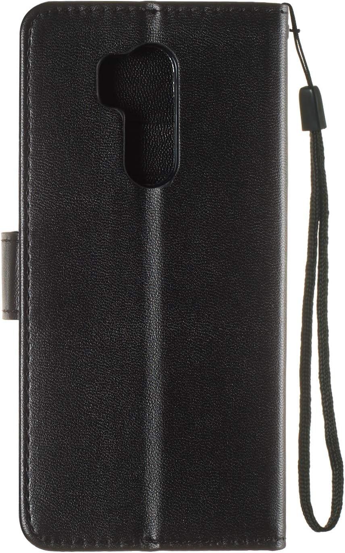 G7 Plus G7Plus Case Leather Wallet Case with Kickstand Card Holder Shockproof Flip Case Cover for LG G7 // LG G7+ - LOYHU250401 L1 Lomogo LG G7 // LG G7+