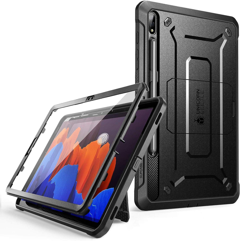 Supcase Hülle Für Samsung Galaxy Tab S7 Plus 12 4 Case 360 Grad Schutzhülle Unicorn Beetle Pro Support S Pen Laden Mit Displayschutz Schwarz Elektronik