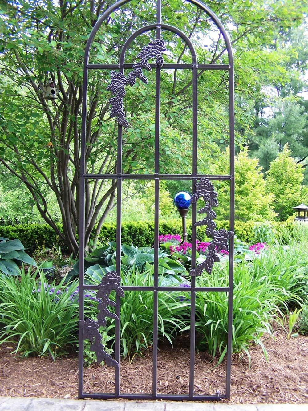 Amazon.com : Oakland Living Rose Trellis, Hammer Tone Brown : Trellises :  Garden U0026 Outdoor