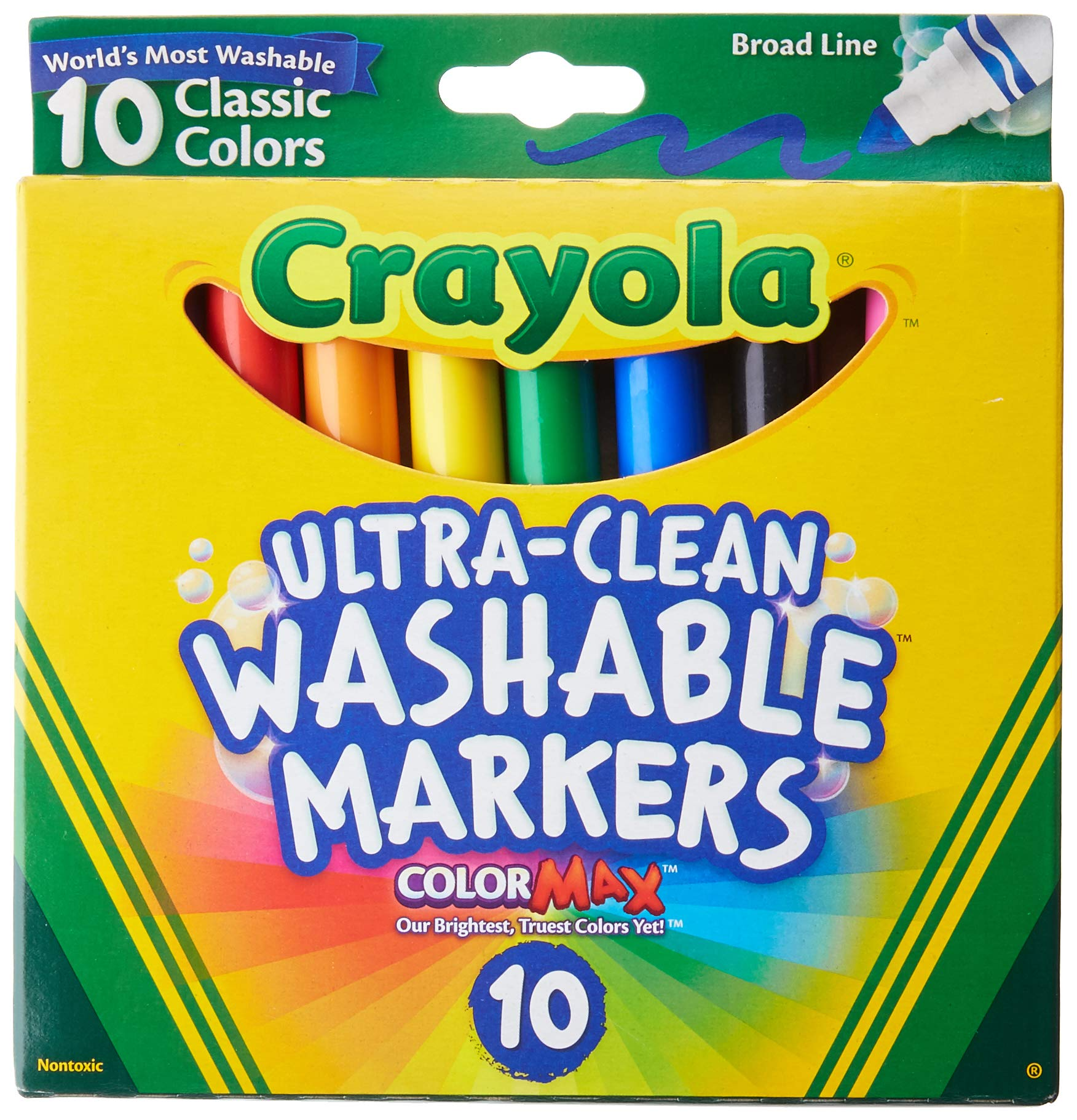 Crayola Ultraclean Broadline Classic Washable Markers (2-Pack) by Crayola
