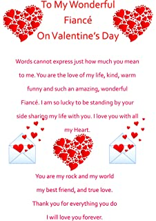 Fiance birthday card amazon office products fiance valentines card 2 bookmarktalkfo Image collections