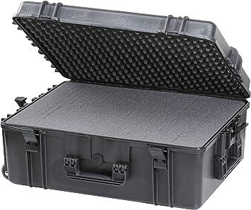 Max MAX620H250S IP67 resistente al agua nominal de tapas rígidas para fotografía equipo estanca resistente de transporte tirador plástico funda Transit/espuma de poliuretano de/caja de transporte para iMac caja de herramientas: Amazon.es: