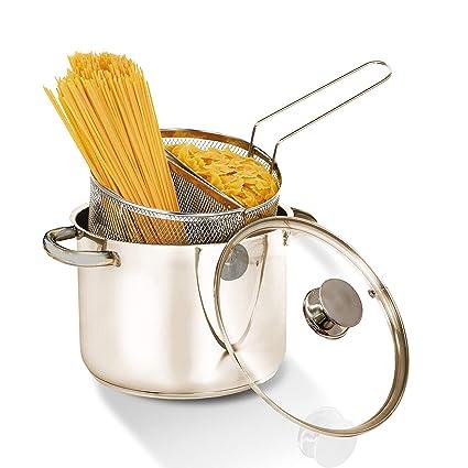 Aeternum Y0DVPSD220 olla para pasta 6 L Acero inoxidable 22 cm - Ollas para pasta (