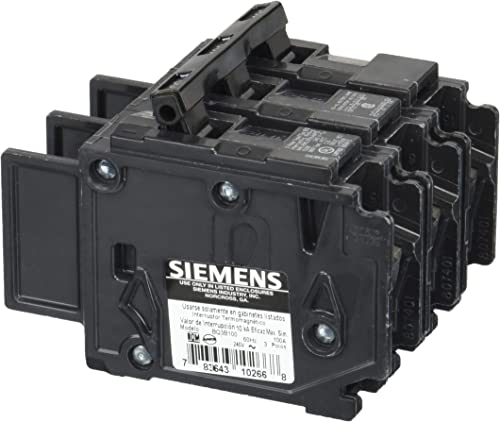 Siemens BQ3B100 100-Amp Three Pole 240-Volt 10KAIC Breaker