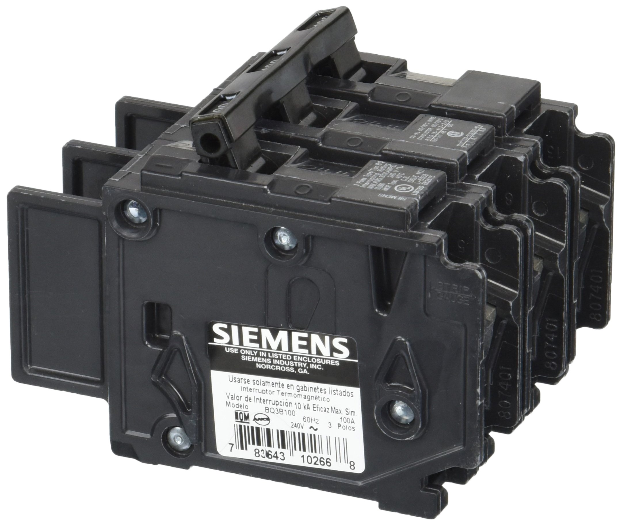 Siemens BQ3B100 100-Amp Three Pole 240-Volt