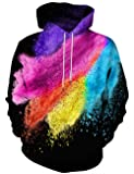 Hgvoetty Unisex Realist 3D Printed Pollover Hooded