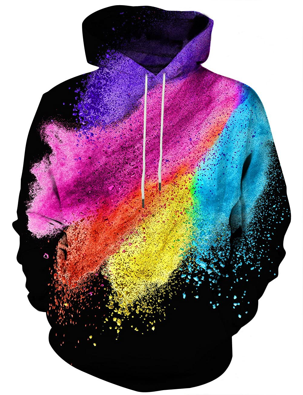 Hgvoetty Unisex Realistic 3D Printed Hoodies for Men Women Cool Graphic Hooded Sweatshirt with Pockets for Men Women
