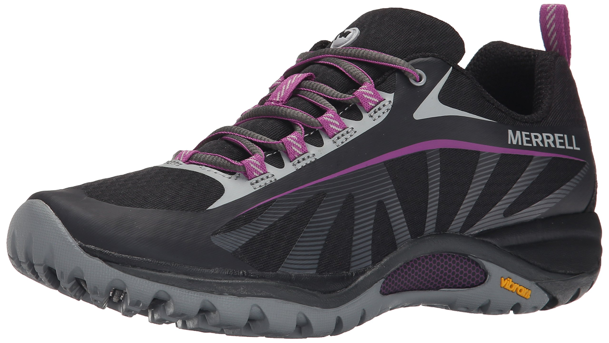 Merrell Women's Siren Edge Shoe, Black/Purple, 8.5 M US