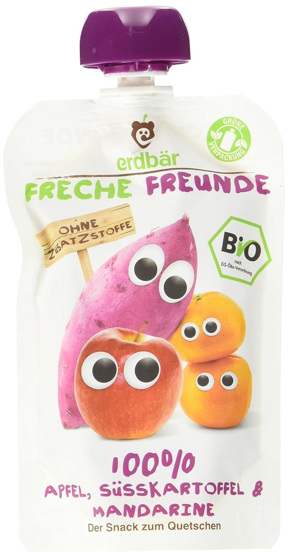 Freche Freunde Bio Quetschie Apfel, Mango, Banane, Sanddorn & Buchweizen, 6er Pack (6 x 100 g) 2985