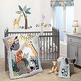 Bedtime Originals Mighty Jungle 3Piece Crib Bedding Set, Multicolor