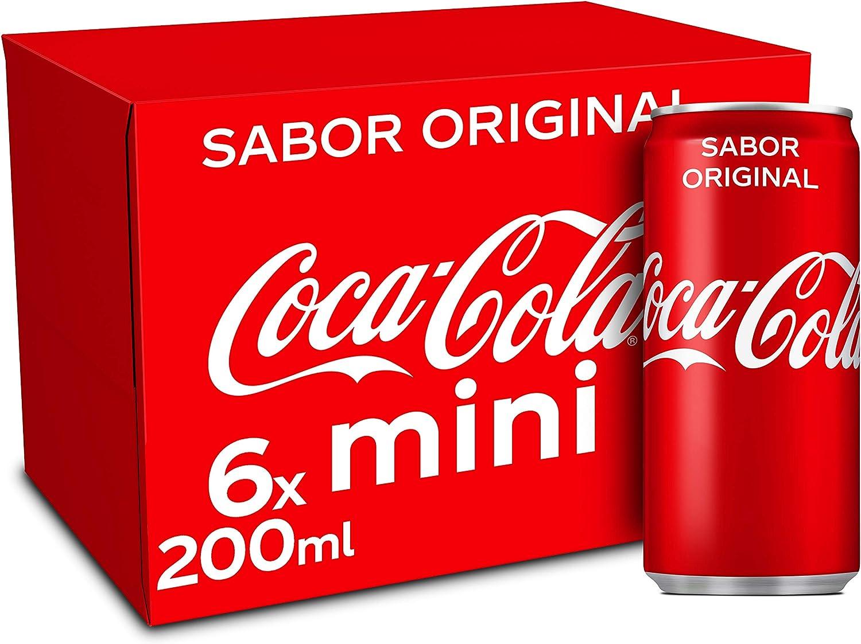 Coca-Cola Sabor Original - Refresco de cola - Pack 6 minilatas 200 ml
