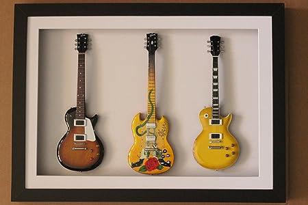 rgm977 Slash guitarra en miniatura recogida en el marco de ...