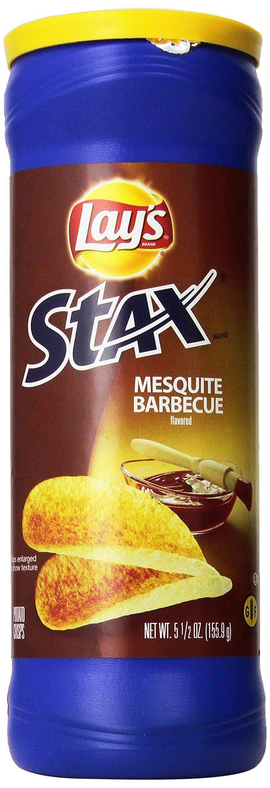 Lay's Stax Mesquite Barbecue Flavored Potato Crisps 5.5 oz