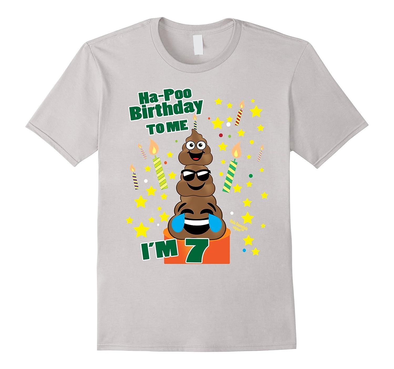 Poop Emoji Birthday Shirts Age 7 Its My Ha Poo Cake CD