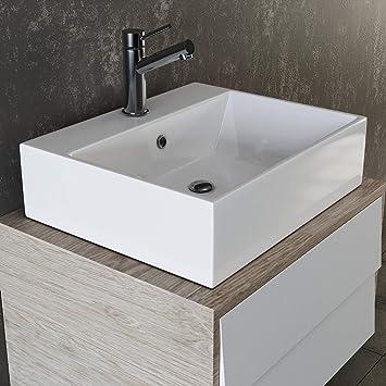 VILSTEIN© Keramik Waschbecken Hängewaschbecken Aufsatzwaschbecken ...