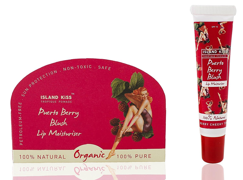 Island Kiss,  Organic Lip Balm, Moisturiser & Stain With Spf 15,