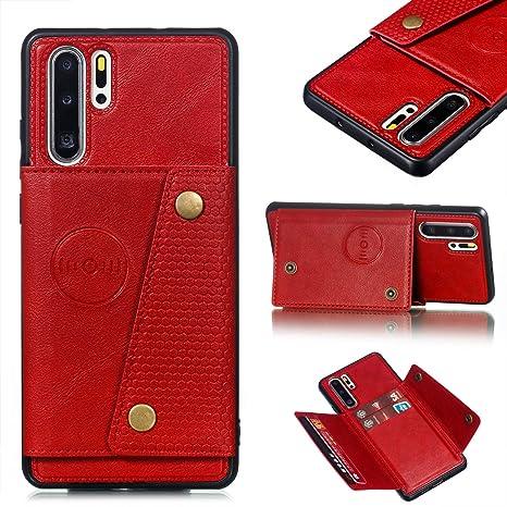 Shinyzone Custodia per Huawei P30 PRO,Portafoglio Tasca con Porta Carte,Flip Cover Posteriore in Pelle con Chiusura Magnetica Fibbia Supporto Magnetico Auto,Nero