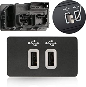 Bestycar Dual USB Interface Module for Ford Apple Carplay SYNC3 HC3Z-19A387-B USB Interface Hub USB Media Hub Blue
