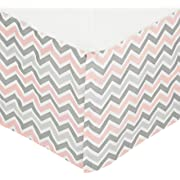 American Baby Company 100% Cotton Tailored Crib Skirt with Pleat, Pink, for Girls