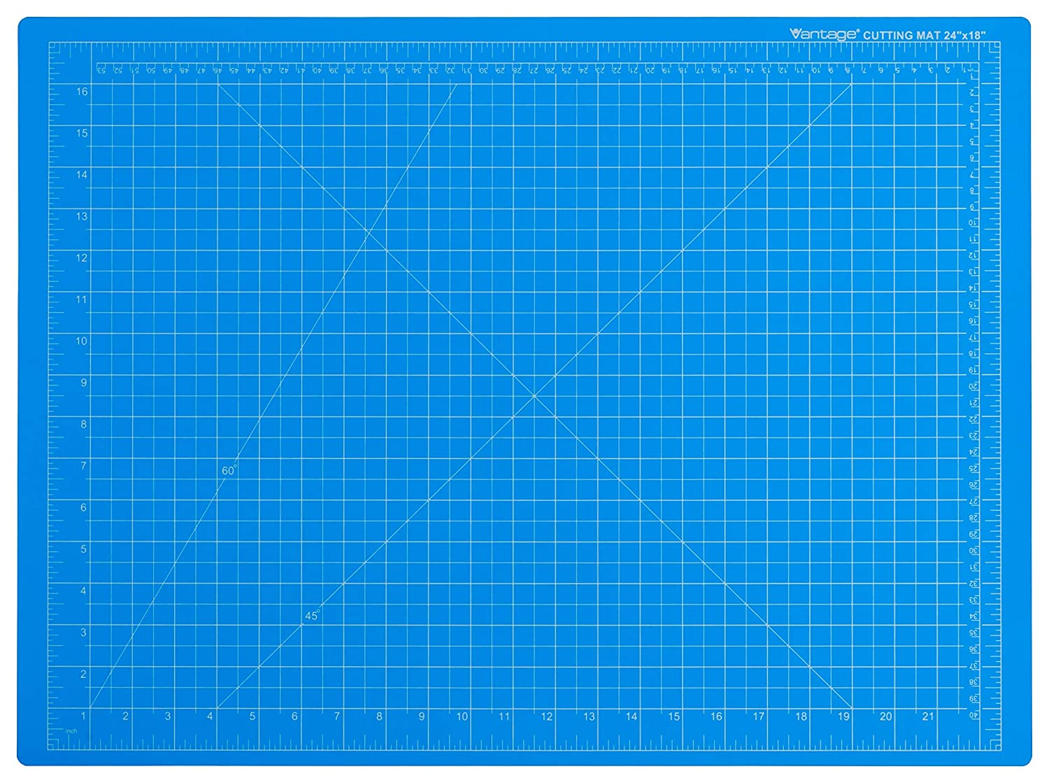 "Dahle Vantage 10692 Self-Healing 5-Layer Cutting Mat Perfect for Crafts and Sewing 18"" x 24"" Blue Mat"