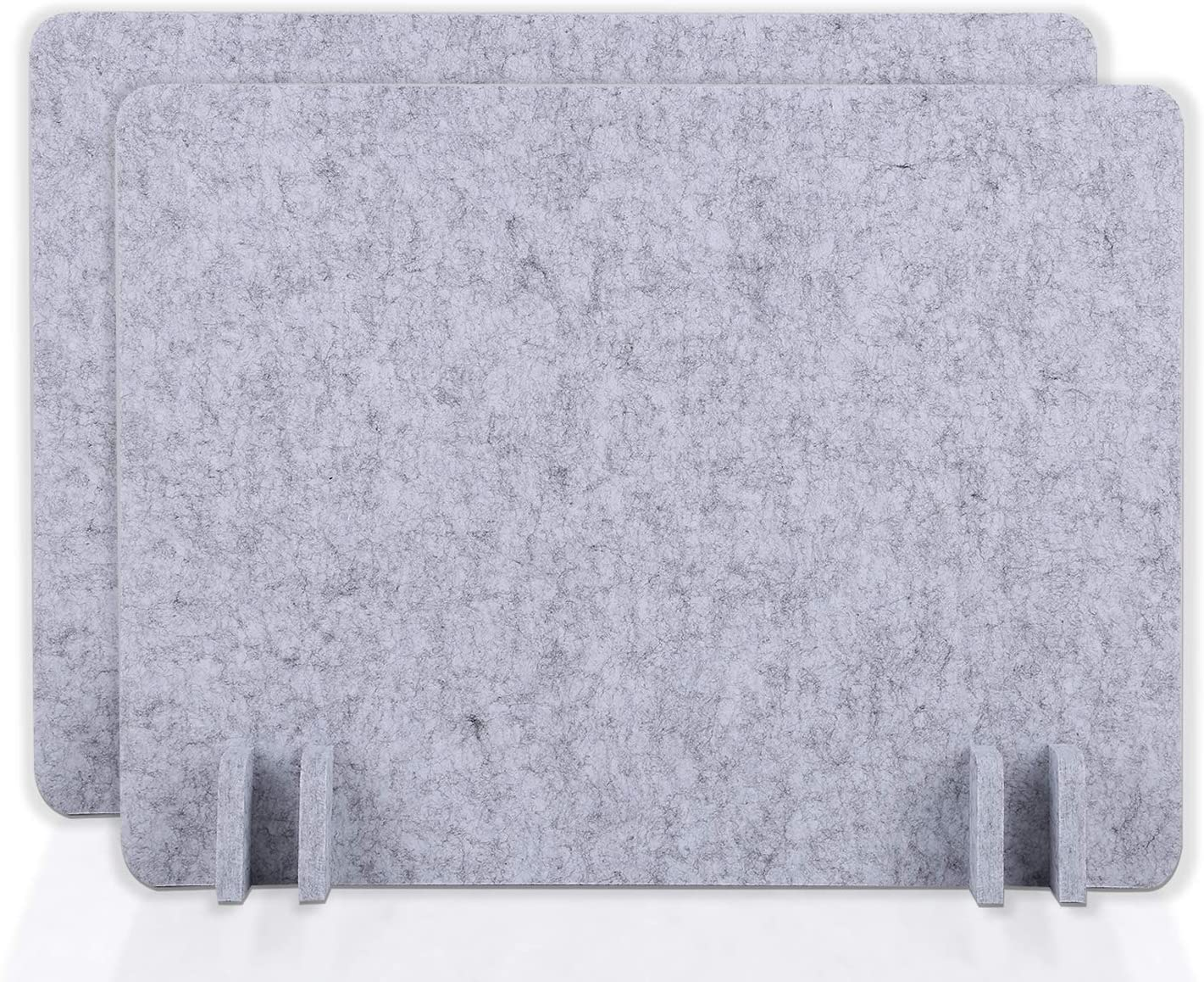 BUBOS Acoustic Desk Divider,Lightweight Desk Mounted Privacy Panel,Sound Absorbing Cubicle Desk Dividers, Acoustic Partitions,Can Reduce Noise and Visual Distractions(21 x 16inch,2Pack) (Silver Gray)