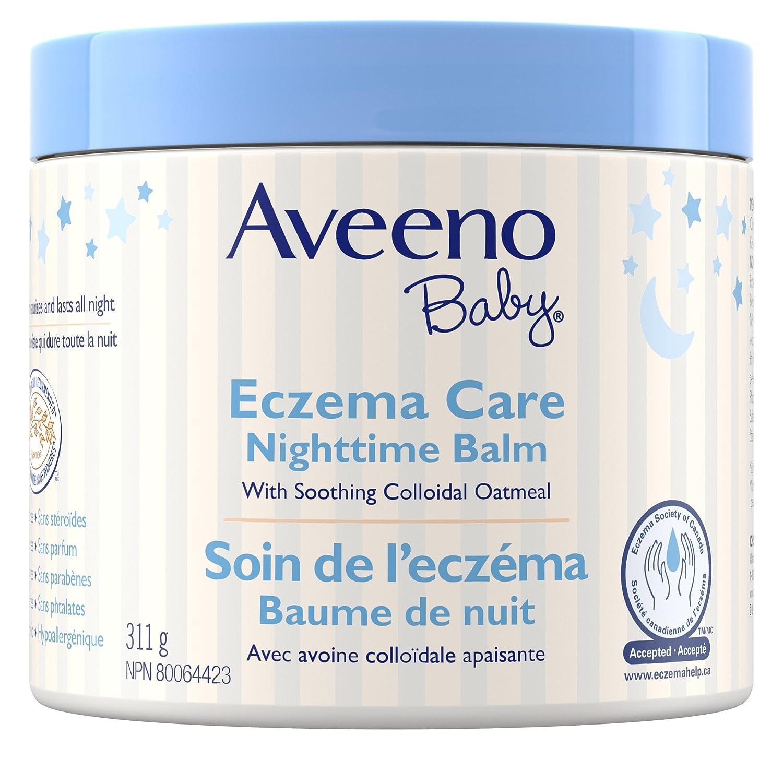 Aveeno Baby Eczema Care Night Cream, Bedtime Balm and Moisturizing Lotion, Paraben Free, 311G Johnson and Johnson CA