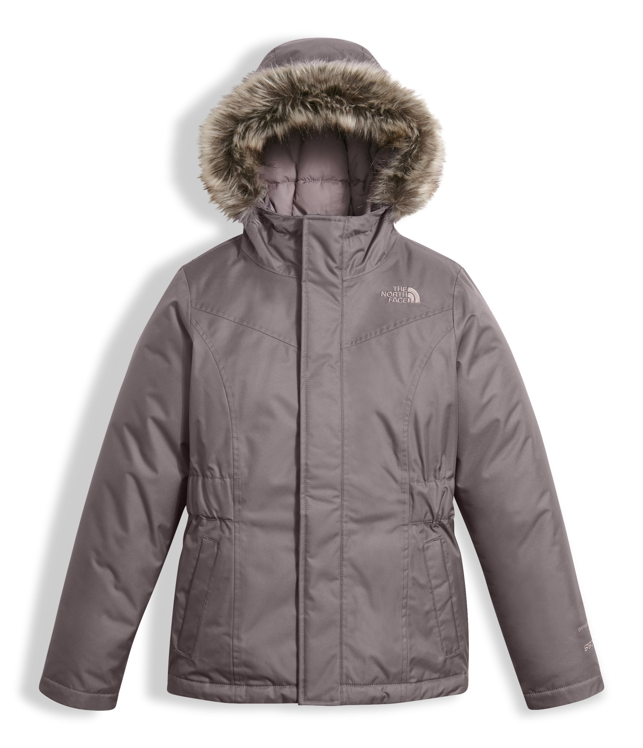 The North Face Girl's Greenland Down Parka - Rabbit Grey - L (Past Season) by The North Face