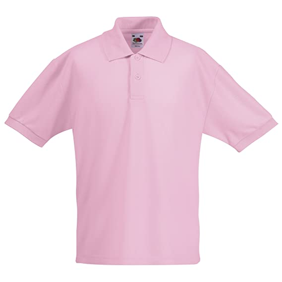 1b15fec7 Kids Fruit of The Loom Short Sleeve 65/35 Pique Polo T Shirt-12 ...