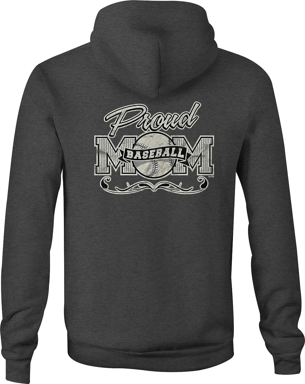 Baseball Zip Up Hoodie Proud Mom Fan Hooded Sweatshirt for Men