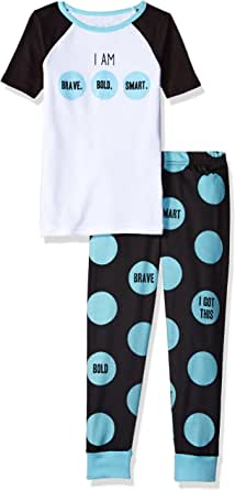 The Children's Place Girls' Short Sleeve Top and Pants Pajama Set