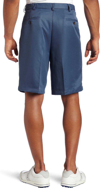 Haggar Men's Cool 18 Hidden Expandable-Waist Pleat-Front Short at  Men's Clothing store: Men S Haggar Pants