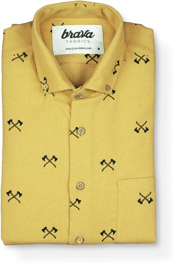 Brava Fabrics - Camisa Hombre Manga Larga Estampada - Camisa ...