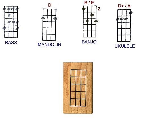 Amazon Stampola Ukulele Banjo Mandolin Chord Stamp 5 Frets